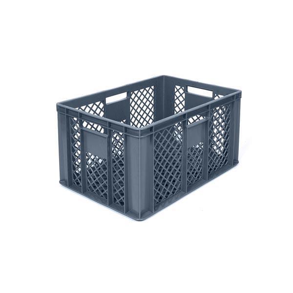 Kunststof opbergbak, 60x40x32 cm, grijs